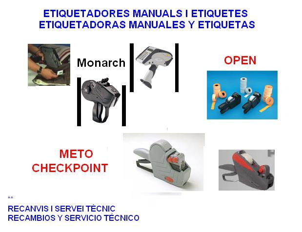 MARCADORAS DE PRECIOS MANUALES